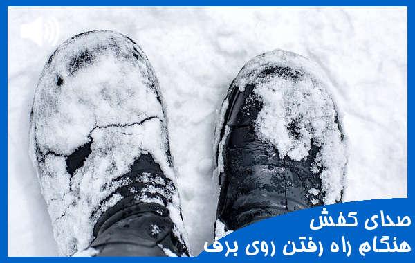 صدای راه فتن روی برف